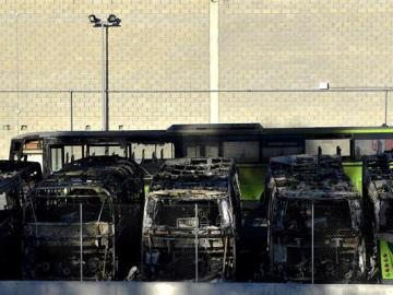 Queman ocho autobuses en Vizcaya
