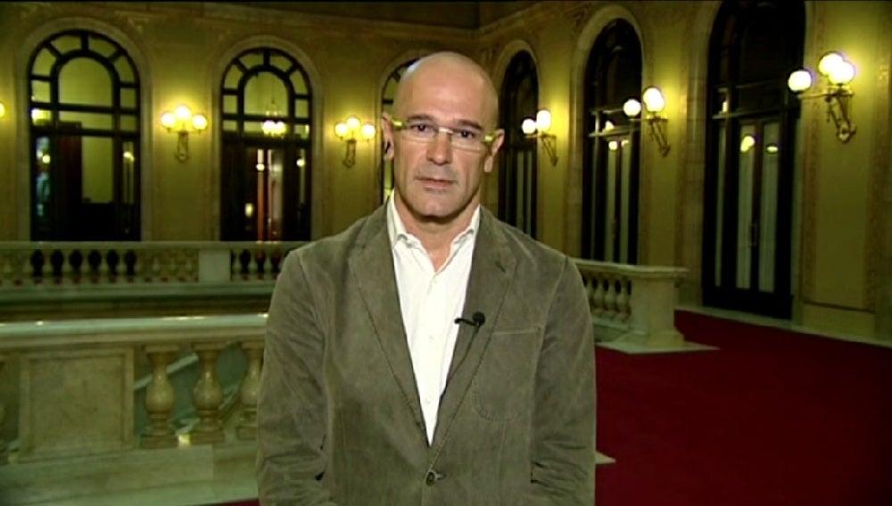 Raül Romeva, durante una entrevista en Espejo Público