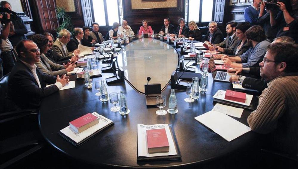 Carme Forcadell preside la Junta de Portavoces del Parlament