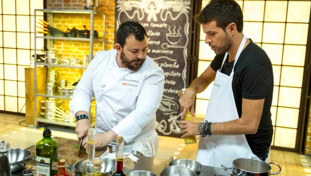 Pablo López cocina con Alejandro Platero