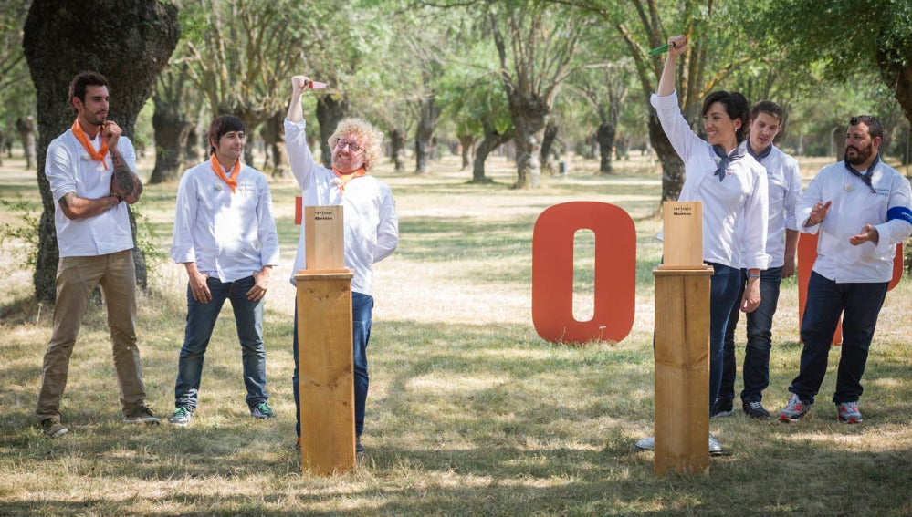 El equipo naranja gana la prueba grupal