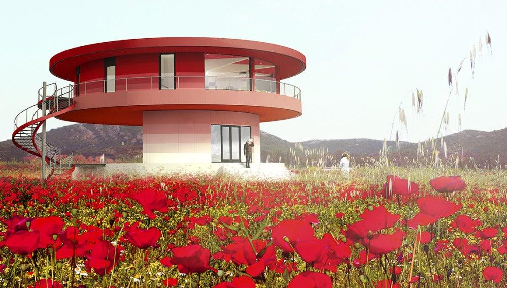 Un prototipo de la casa giratoria