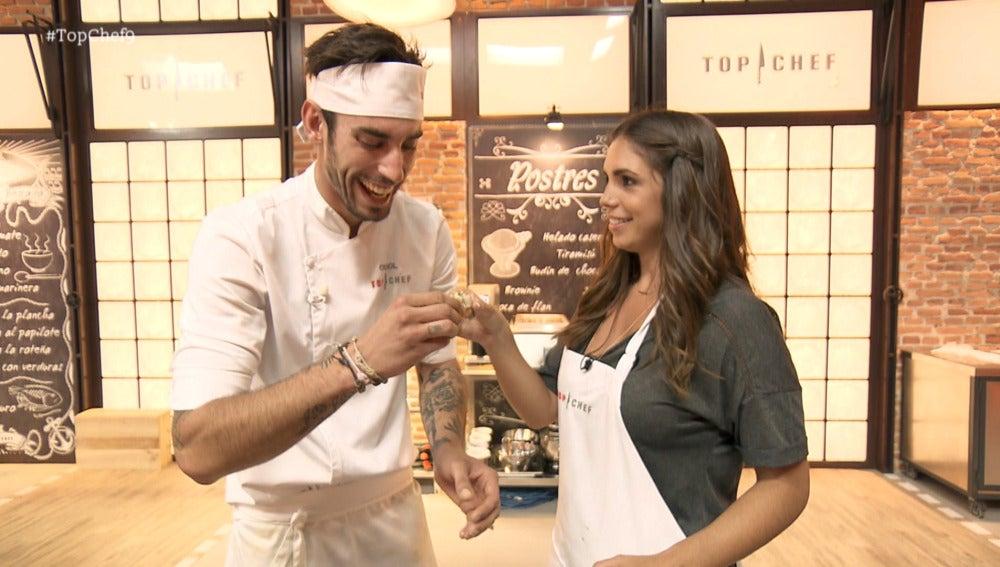 Oriol y Elena furiase juntos en 'Top Chef'