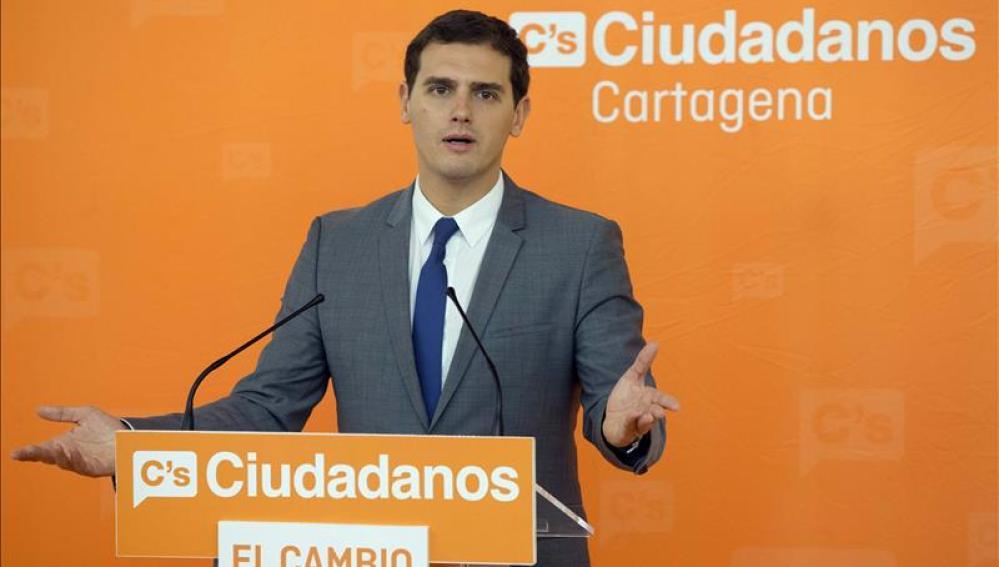 El candidato de Ciudadanos a presidente del Gobierno, Albert Rivera.