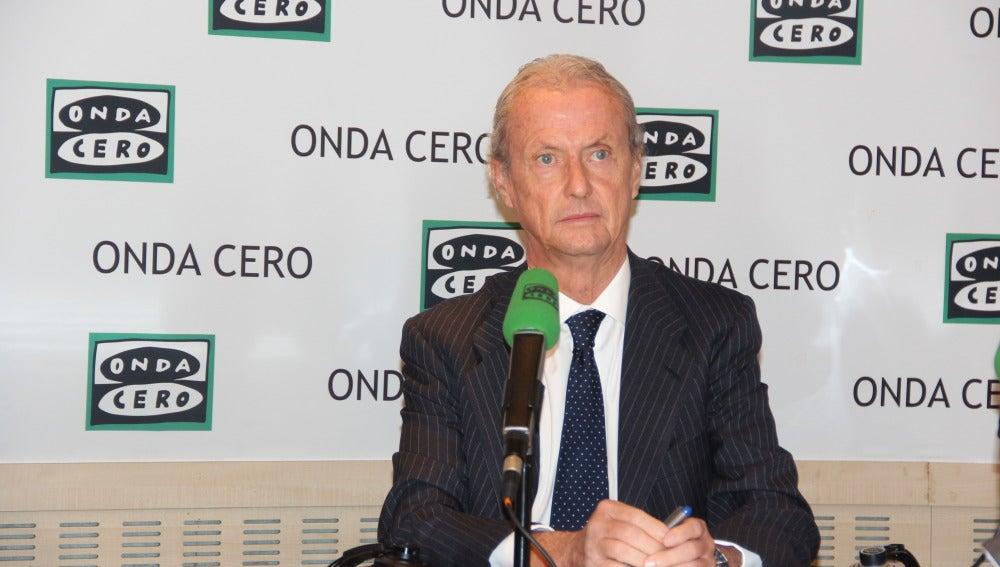 Pedro Morenés, ministro de Defensa, durante una entrevista en Onda Cero