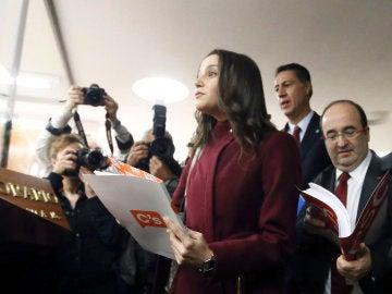 Arrimadas, Iceta y García Albiol