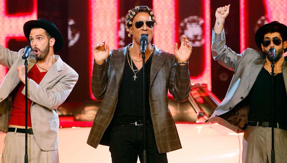 Pablo Puyol se transforma en el gran Bruno Mars en la octava gala de 'Tu cara me suena' para cantar 'Uptown funk'.