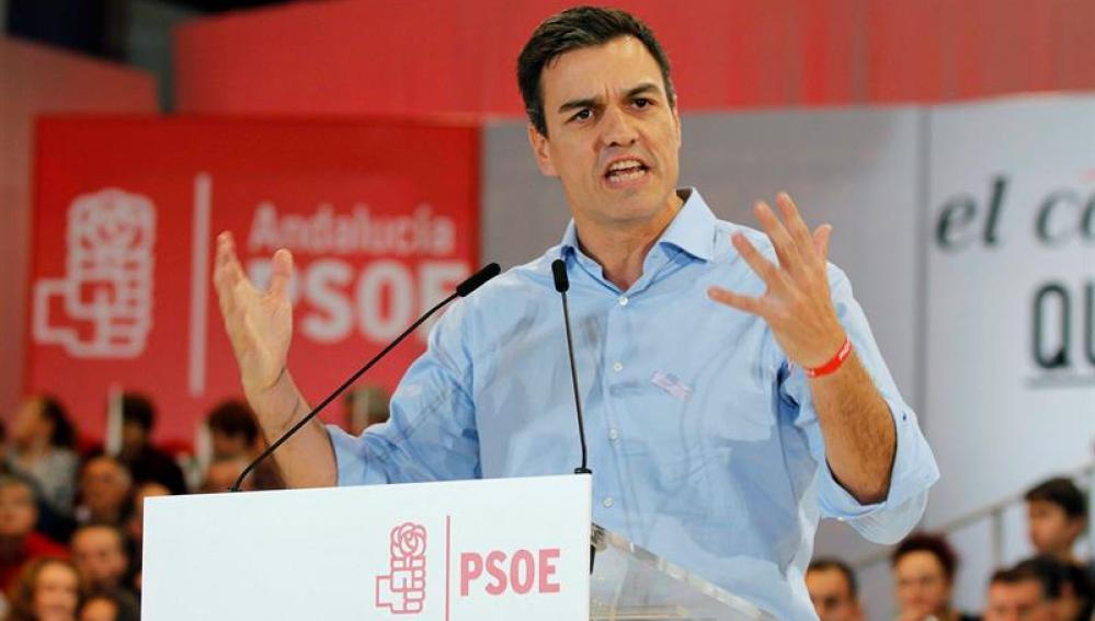 Pedro Sánchez, candidato del PSOE a la Moncloa
