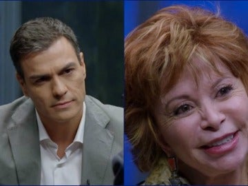 Montaje Pedro Sánchez e Isabel Allende en 'Al rincón'