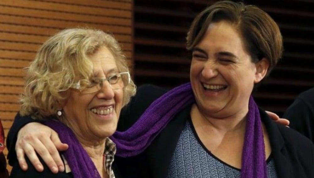 Manuela Carmena y Ada Colau unidas contra la violencia machista