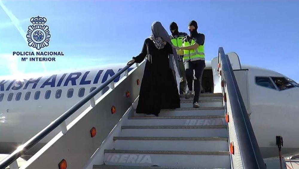 La española detenida en el aeropuerto de Málaga por su vinculación a EI