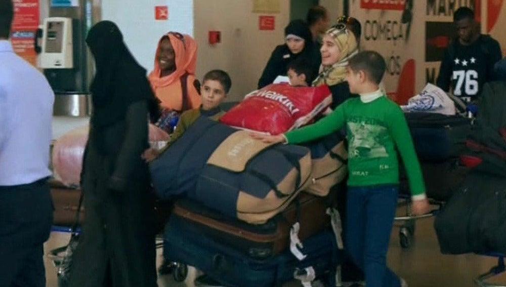 Llegan refugiados a España