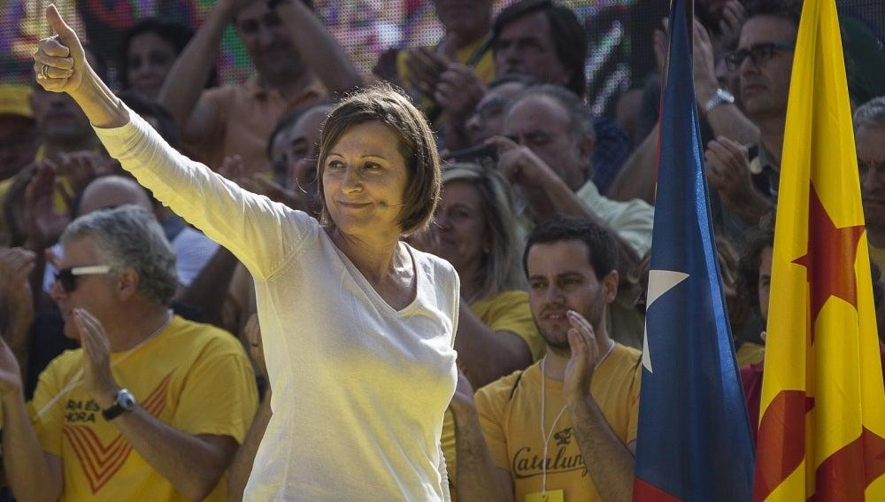 Carme Forcadell, presidenta del Parlamento catalán, en una imagen de archivo.