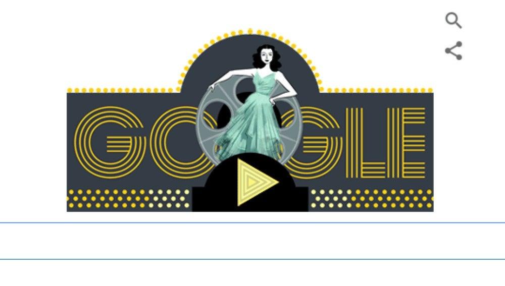 Google celebra con un doodle animado el 101 aniversario del nacimiento de Hedy Lamarr