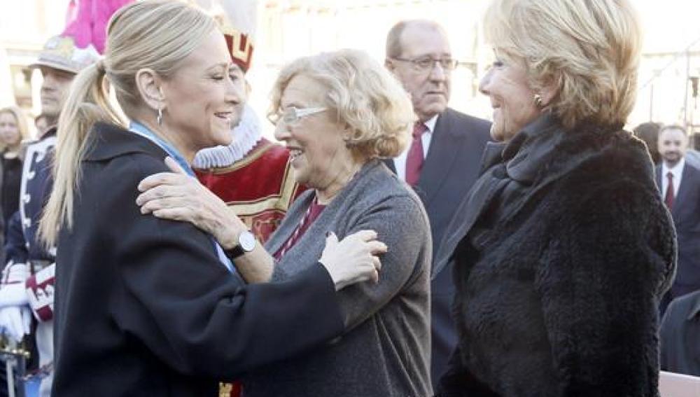 Cristina Cifuentes, Manuela Carmena y Esperanza Aguirre