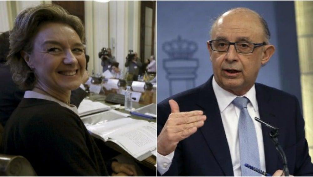 La ministra de Agricultura, Isabel García Tejerina, y el ministro de Hacienda, Cristóbal Montoro