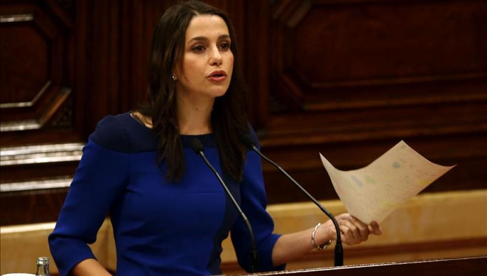 La presidenta del grupo parlamentario de Ciudadanos, Inés Arrimadas.