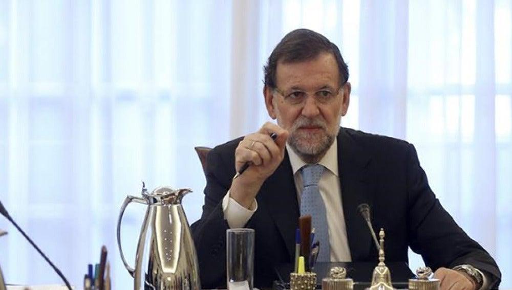 Mariano Rajoy durante un consejo de ministros