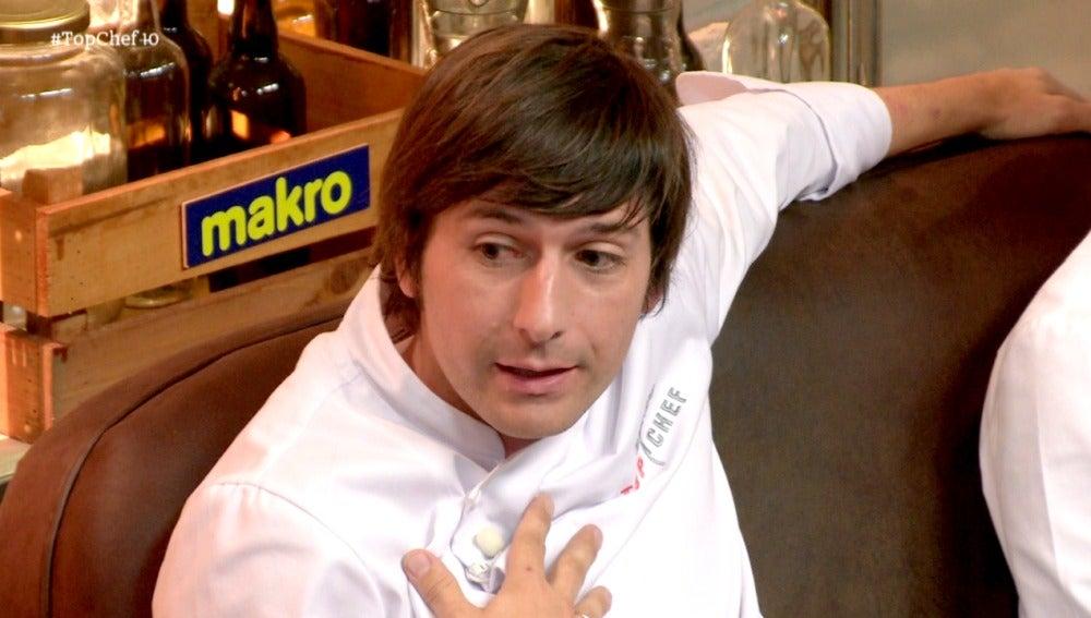 Oriol discute con Sergio en el almacén