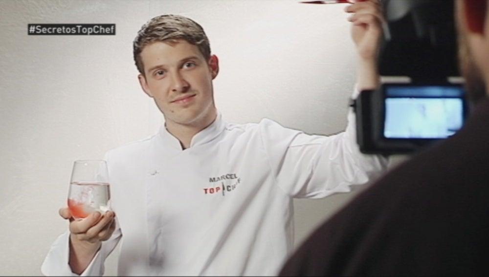 Marcel graba la cabecera de 'Top Chef'