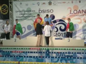 Momento en el que el nadador español es abucheado
