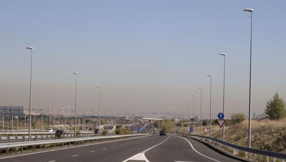 La 'boina' de contaminación de Madrid