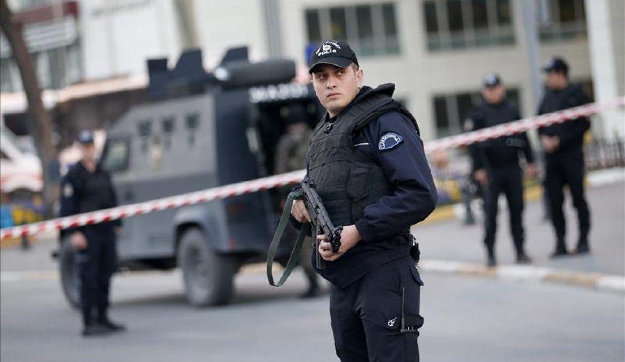 Miembros de la policía en Turquía