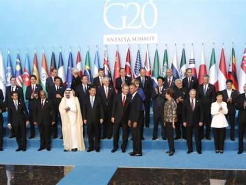Foto de familia de la reunión del G20 en Turquía