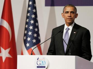 Barack Obama, durante la rueda de prensa posterior al G-20 en Turquía