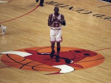 Michael Jordan, durante un partido con los Chicago Bulls