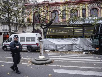 La sala Bataclan, días después del ataque