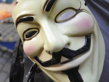 Símoblo de Anonymous, la mayor red de hackers del mundo