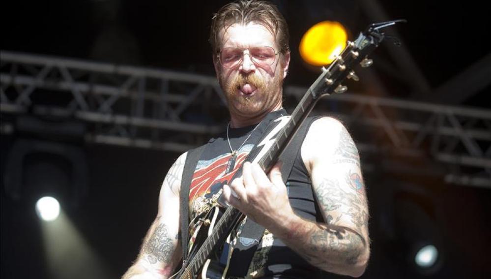 El cantante y guitarrista de Eagles of Death Metal, Jesse Hughes