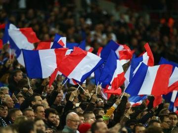 Banders de Francia en Wembley