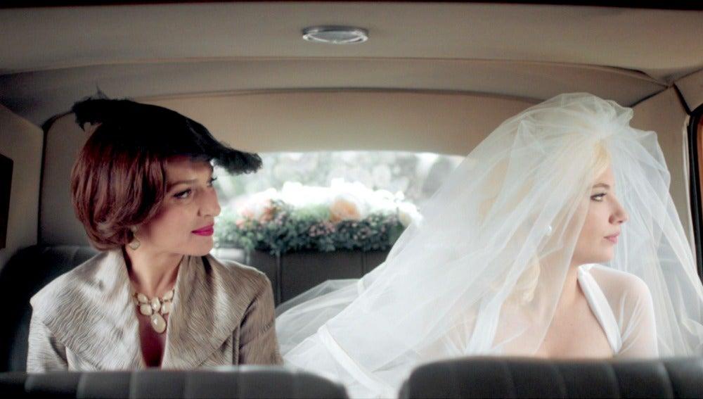 Patricia y Gloria minutos antes de la boda