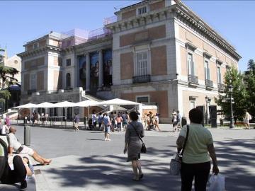 Vista de la fachada del Museo del Prado de Madrid