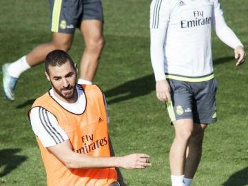Karim Benzema, en Valdebebas