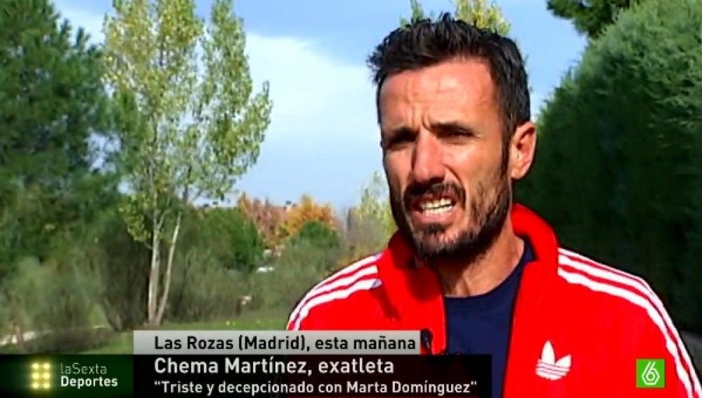 Chema Martínez, decepcionado con Marta Domínguez