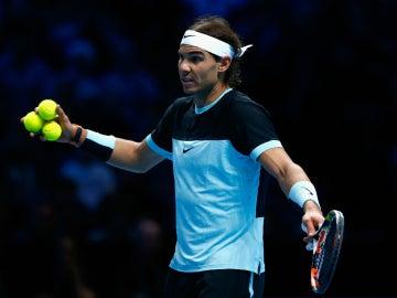 Rafa Nadal, durante el partido contra Novak Djokovic