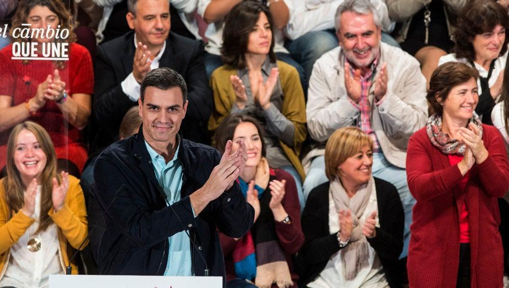 Pedro Sánchez, durante la presentación de su programa de Gobierno