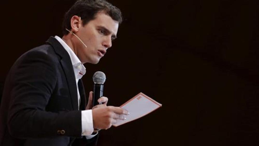 Albert Rivera, durante la presentación de la campaña de Ciudadanos