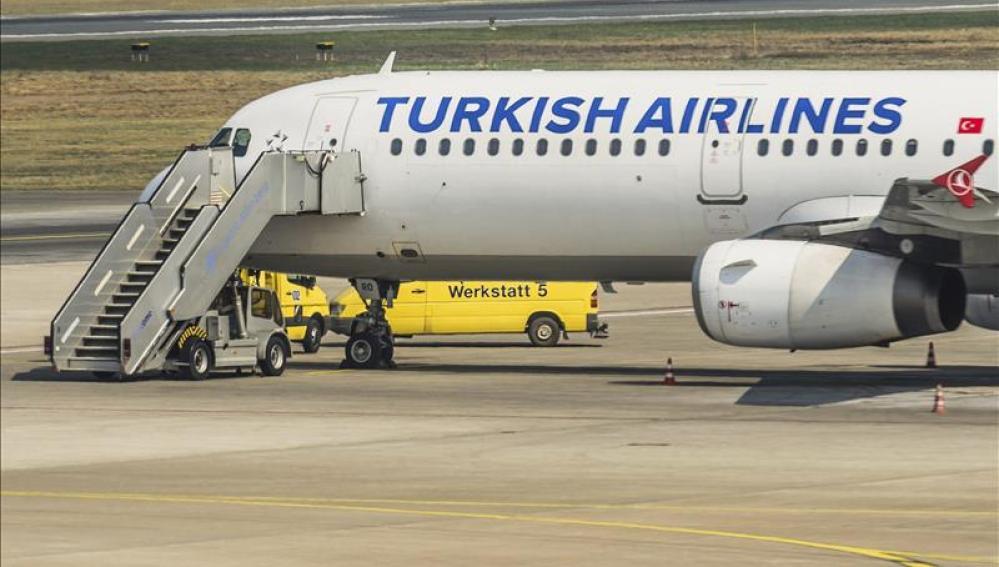 Imagen de un avión de la compañía Turkish Airlines