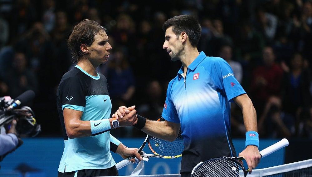 Nadal y Djokovic tras el partido en Londres