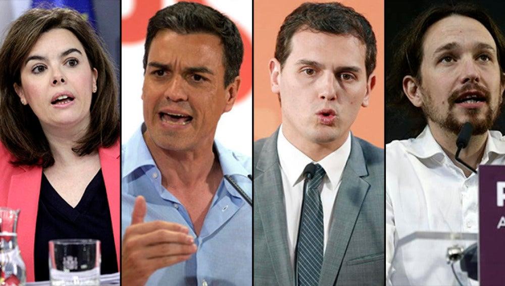 Los participantes en el debate a cuatro de Atresmedia