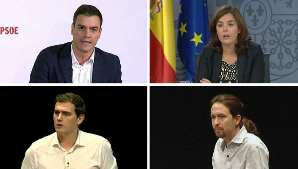 Los participantes en el debate del 7-D