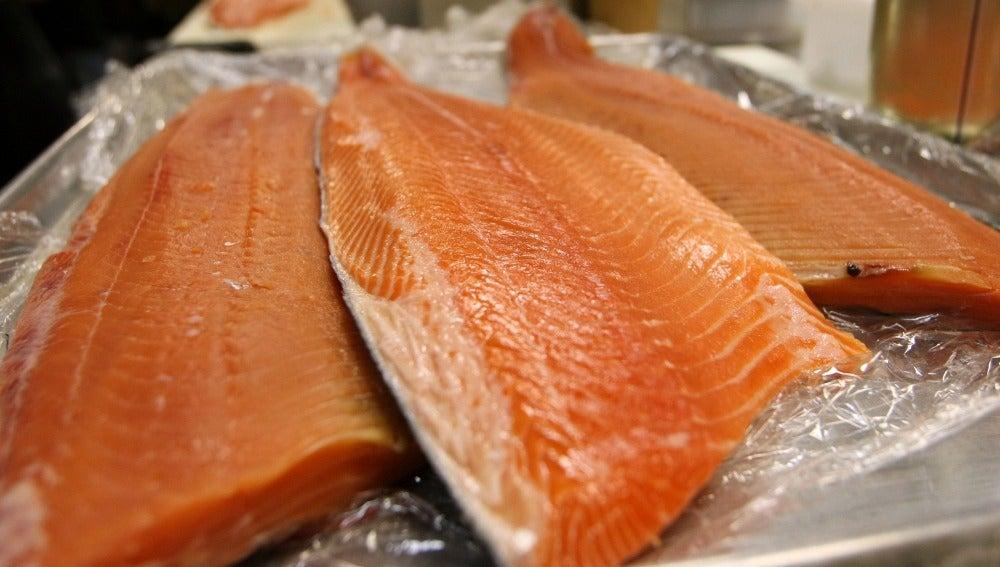 Colas de salmón
