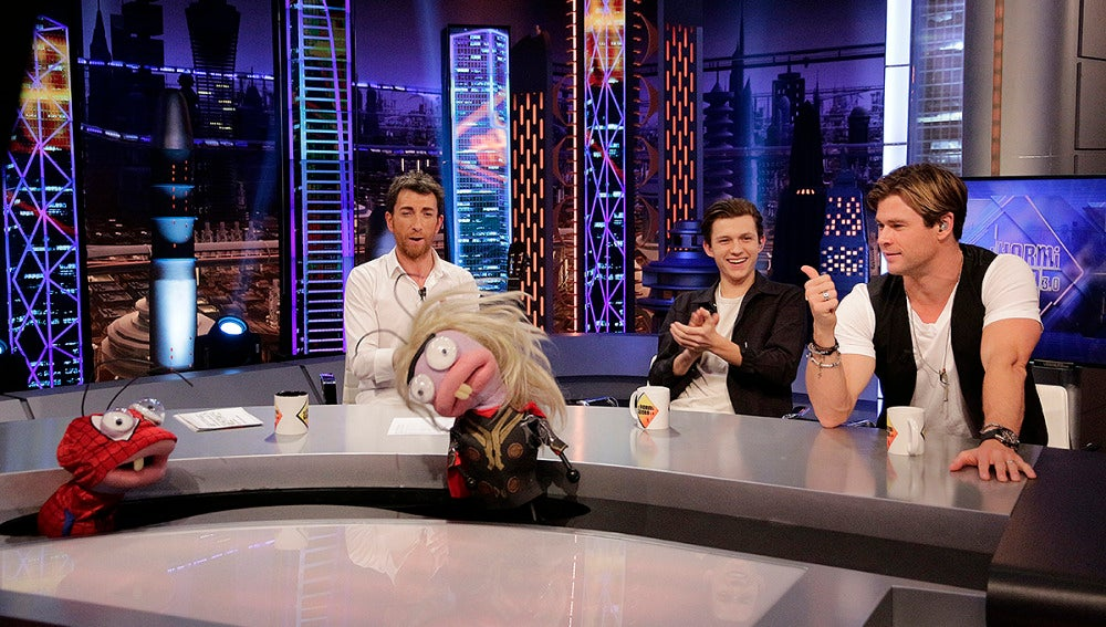 Chris Hemsworth y Tom Holland en 'El Hormiguero 3.0'