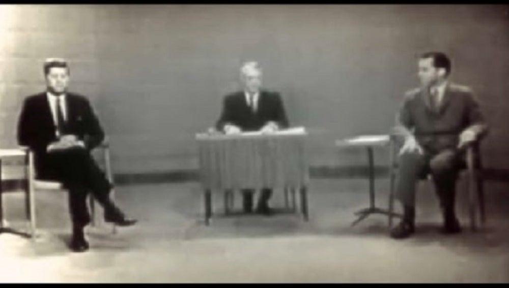 1960, debate electoral entre Nixon y Kennedy
