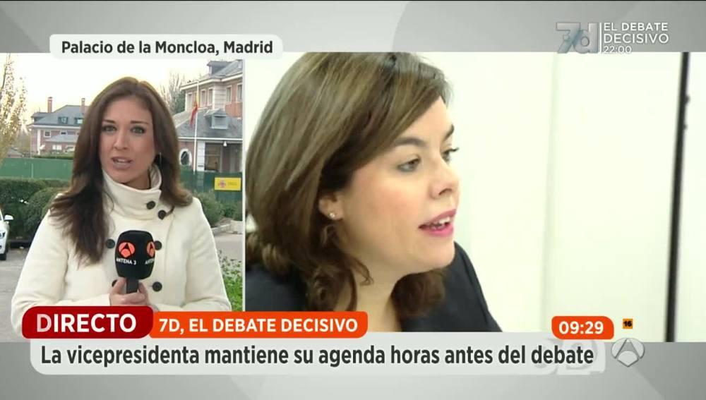 Soraya Sáenz de Santamaría se reúne con su equipo