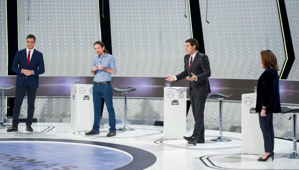 Sánchez, Iglesias, Rivera y Santamaría